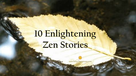 zen stories lotus happiness enlightening