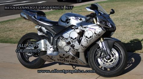 Custom Motorcycle Graphics Decal Kit Bloodshoot