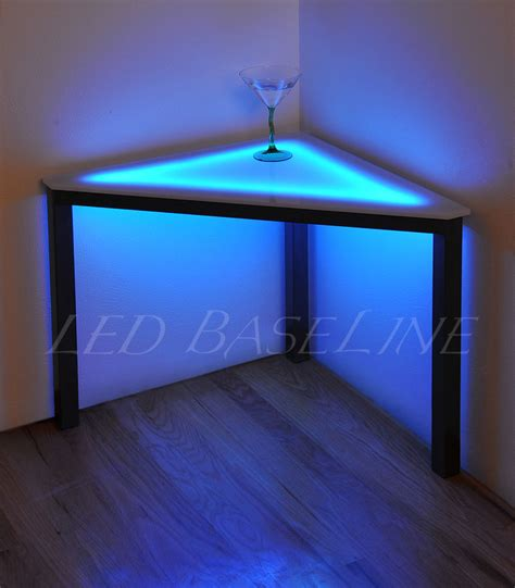 led table l led 19 quot lighted corner table color changing ebay