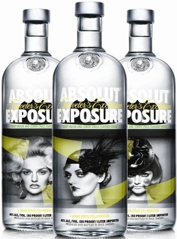 lemon grass vodka absolut exposure honey melon lemon grass flavored vodka limited edition bottles 3 designs