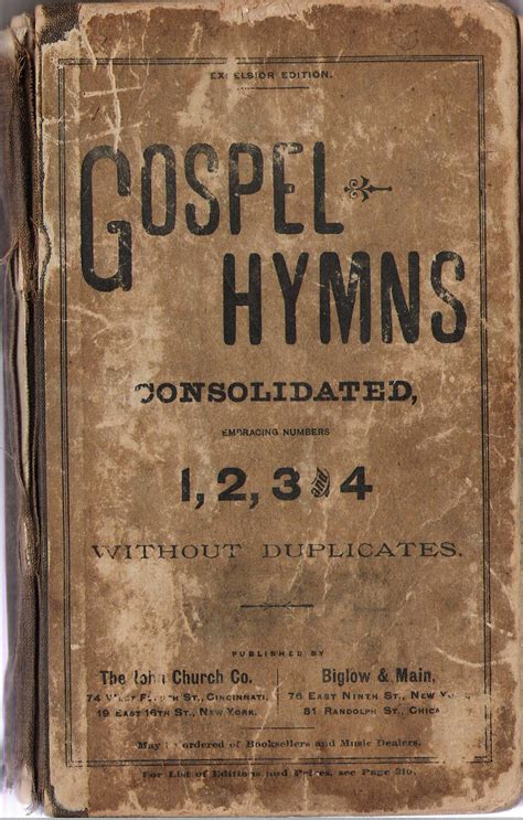 Ira Sankey's Gospel Songs, Part 5 Immoderate