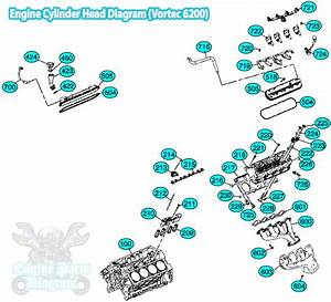 Cadillac Escalade Engine Cylinder Head Diagram  Vortec 6200