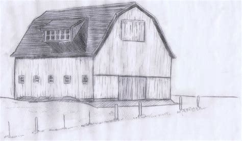 How To Draw A Barn by Weekending Lettering And Sketching Knick Of Time