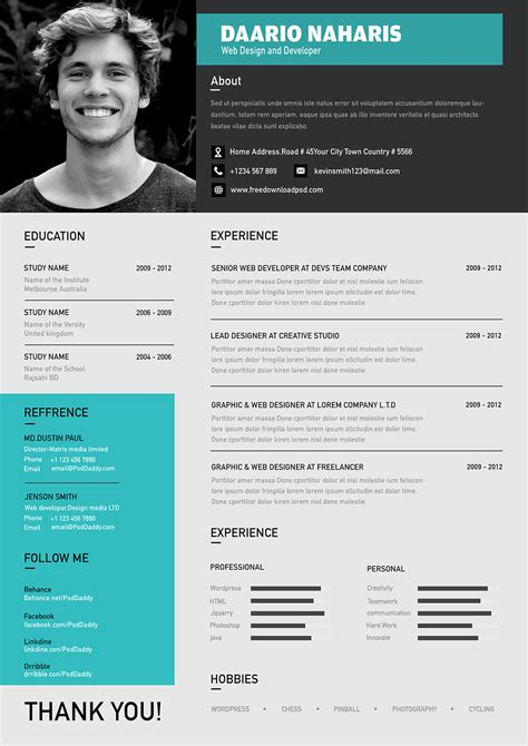 best resume psd template best free modern resume template in psd format good resume