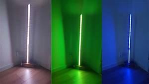 genius diy modern led floor lamp youtube With diy led floor lamp