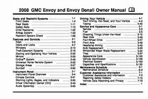 2008 Gmc Envoy Owners Manual