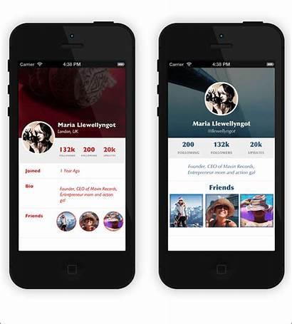 App Ui Iphone Flat Template Mobile Ios