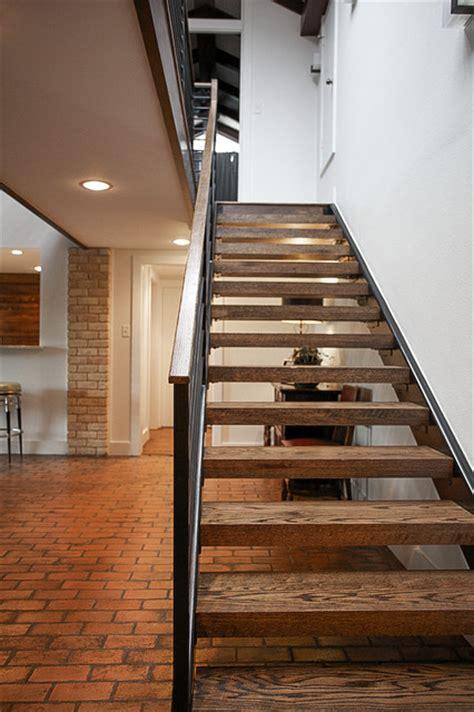 mid century modern midcentury staircase dallas