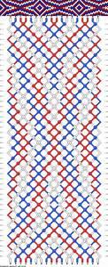 Colors 3 Strings 18 Rows 46 Friendship Bracelet Pattern