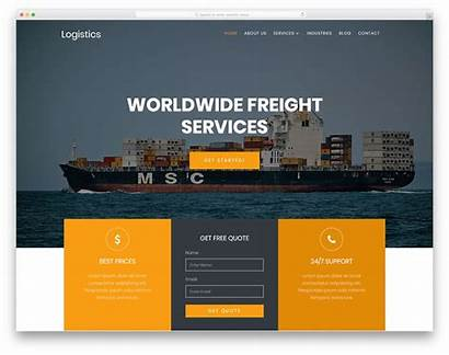 Logistics Template Website Templates Bootstrap Shipping Colorlib