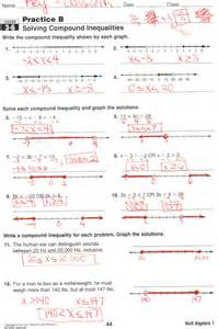 compound inequality worksheet learning experience