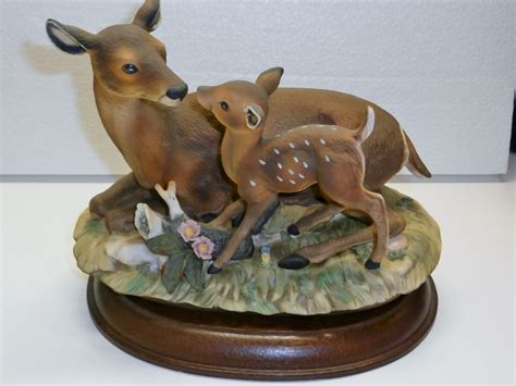 home interior deer pictures 1979 homco home interiors porcelain masterpiece deer and