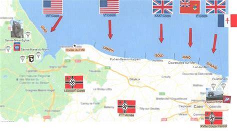 Carte De Plage Normandie carte des plages du d 233 barquement en normandie