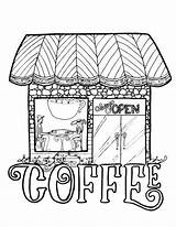 Coffee Coloring Pages Adult Printable Drawing Theme Colouring Themed Adults Mandala Pet These Grab Fall Shops Books Getdrawings Jp Sheets sketch template