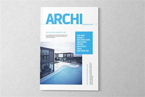 blank leaflet template inner solape architecture magazine template on behance