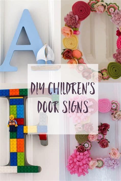 Bedroom Door Sticks At Top by Diy Children S Room Door Letters Craft Challenge 1