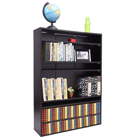 Display Bookcase by Wood Bookcase Bookshelf Adjustable Book Shelves Storage