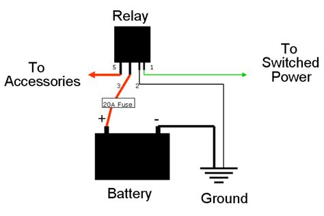12v Relay Schematic Diagram by Wiring A Relay For Accessories