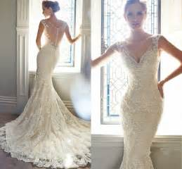 ivory wedding gowns vintage ivory lace bridal gowns mermaid wedding dresses 6 8 10 12 14 16 2237225 weddbook