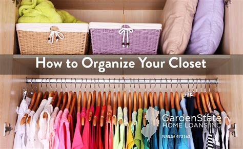 how to organize your closet a few tips garden state