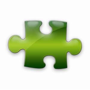 Horizontal Puzzle Piece Icon #019258 » Icons Etc