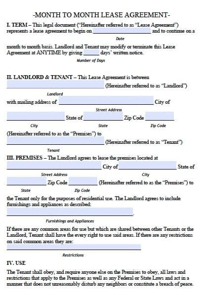 connecticut monthly rental agreement  template