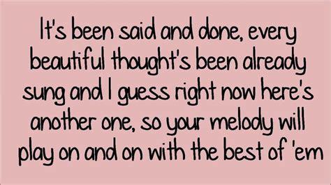 Love You Like A Love Song (lyrics) Hd