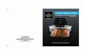 Sharper Image Super Wave Oven 8217si User Manual