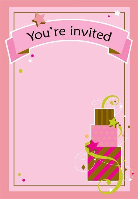printable girl fun birthday invitation cake