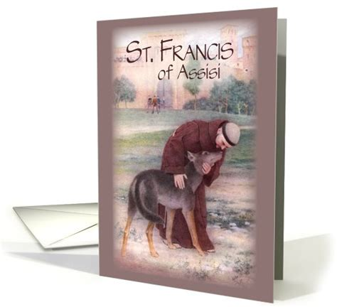 st francis of assisi birthday st francis of assisi card 480381