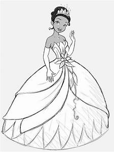 Princess Tiana and The Frog Coloring Pages - Free ...