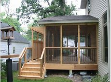 Astounding All Wooden Screened In Porch Designs With