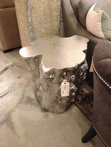 silver tree stump table project on pinterest tree stumps With silver tree trunk coffee table