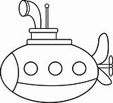 Submarine Coloring Clipart Sub Clip Cartoon Pages Submarines Cliparts Drawing Printable Craft Sweetclipart Line Colouring Sheets Vehicle Preschool Sea Library sketch template