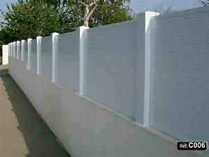 Claustra Beton Blanc : claustra pvc sceller sur un mur et cl ture occultant ~ Melissatoandfro.com Idées de Décoration