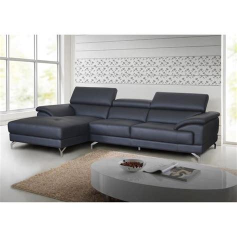 canapé d angle cuir gris anthracite salon d 39 angle en cuir gris anthracite moderne quot lucia