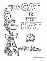 Hat Cat Coloring Seuss Dr Across Printables Worksheets Bookmarks Reading Math Title America Alphabet Matching Writing Celebrate sketch template