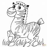 Zebra Coloring Pages Funny Baby Cute Para Colorear Drawing Printable Happy Colouring Cebra Print Worksheet Dibujos Bebes Zebras Dibujo Una sketch template
