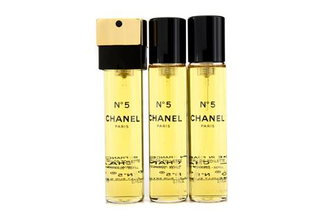 chanel no 5 eau de toilette purse spray refills 3x20ml 0 7oz ebay