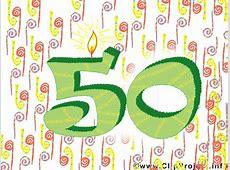 Wünsche zum 50 Geburtstag Karte, Clipart, Bild