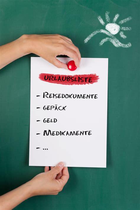 Checkliste Urlaub Alles Im Gepaeck by Checkliste F 252 R Den Usa Urlaub Was Nehme Ich Mit