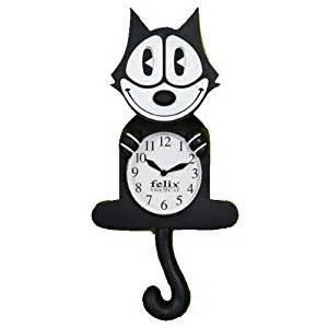 felix cat clock felix the cat 3 d motion clock wall clocks