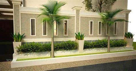 model pagar tembok rumah minimalis terbaru eksterior
