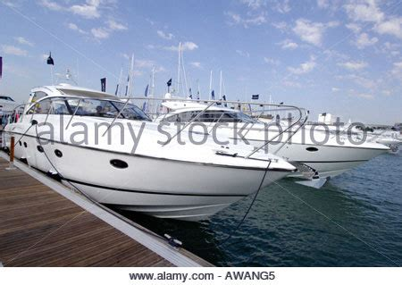 boats yachts for sale at southton international boat show stock photo royalty free image