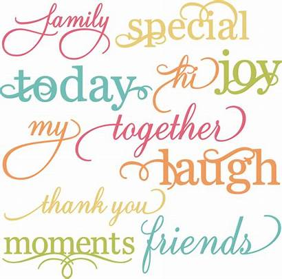 Svg Pretty Words Cut Scrapbooking Cutting Quotes