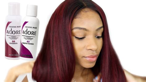 dye virgin hair redburgundy beauty