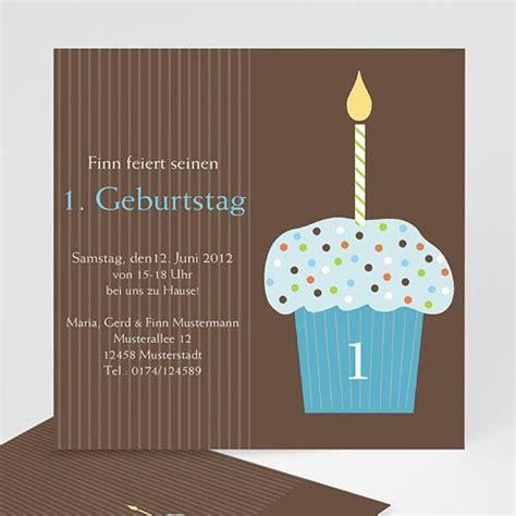 geburtstagseinladungen jungen cupcake blau carteland