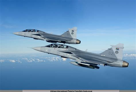 south african air force gripen fighters  flight south