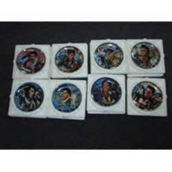 Set of 8 Musical Plates - A Musical Tribute to Elvis The King