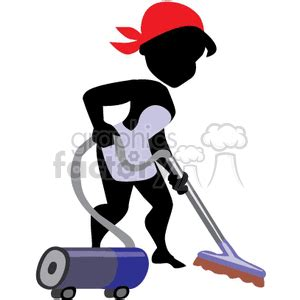 royalty  women vacuuming floor  vector clip art